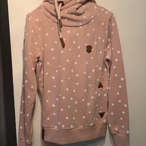 Pink polka dot hoodie